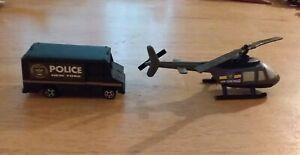 1:72 Helicopter and SWAT-type Van, New York Police Department, Black Plastic