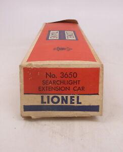 BX Lionel Postwar 3650 Searchlight Extension Car - Empty Box