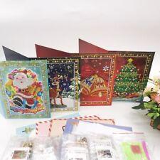 Christmas 5D DIY Partial Drill Diamond Painting Greeting Wedding Card Gift Arts