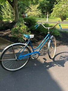 Vintage Schwinn Deluxe Breeze Bicycle - Blue, 1970's