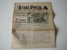 Lou Païs journal régional lozère decembre1962 rené alla