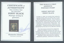 WORLD'S FIRST STAMP PENNY BLACK ENCASE with CERTIFICATE of AUTHENTICITY GENUINE