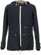 NWT Band of Outsiders Lightweight Parka Coat Navy Blue full zip jacket 4 L XL