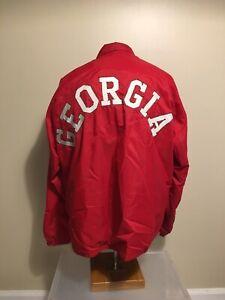 Rare Vtg 60s Champion Running Man Trainer Jacket NCAA Georgia Bulldogs