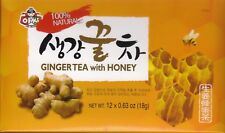 Assi Instant Ginger Tea with Honey - 12 Bags X 0.63oz New