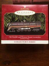 Hallmark Keepsake Lionel 746 Norfolk and Western Steam Locomotive & Tender Set