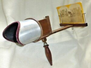 Superb Edwardian Stereoscope Stereo Viewer, c1904 with 14 Images.