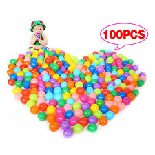 100pcs Multi-Color Cute Kids Soft Play Balls Toy for Ball Pit Swim Pit Pool VJ