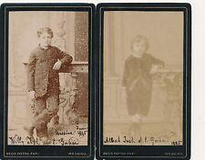Photograph CDV Cabinet card Josh family Messina 1885 HPP
