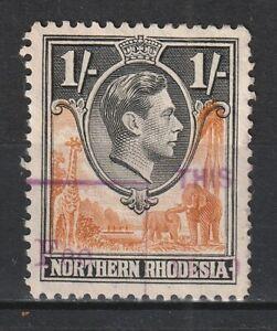 "1938 Northern Rhodesia S.G.40 1/- Yellow-Brown & Black Fine ""FEE STAMP"" Revenue"