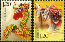 China 2007-8 Dragon and Lion Dance (Joint Issue of China and Indonesia) MNH