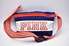 Victoria's Secret Pink Black Fanny Pack Waist Bag USA Red White Blue Logo RARE