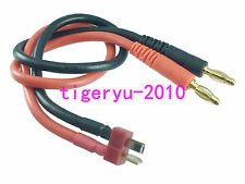 Deans T-Plug male to 4mm Male Bullet banana Battery Charger Cable 12AWG