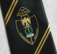 Olicana Lodge Wharfedale PROVINCIA FREEMASONRY massonica Masons Tie Vintage Verde