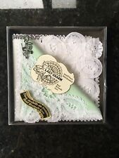 Brussels Lace Boxed Linen Handkerchief Set New 1970's