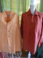 lot 2 belles chemises assorties xl   homme  ,couleur gaie  marque,qualité