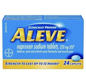 Aleve Naproxen Sodium 220 mg, 24 CAPLETS