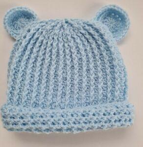 HANDMADE CROCHET Baby hat 12 -18 months   baby blue