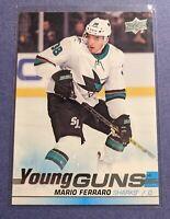 1x - MARIO FERRARO 2019-20 UD Series 1 Young Guns Rookie #230 San Jose Sharks