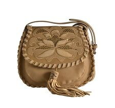 STEVEN by Steve Madden Women's Jkalli Saddle Bag Embellished Tassel Camel