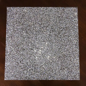 Sparkle Home Luminous Collection SQUARE SILVER PLACEMATS Rhinestones Charger NEW
