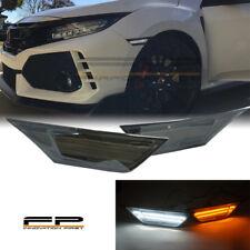 For 16 17 18 19 Honda Civic LED Side Markers Smoked Lens Switchback Amber/White