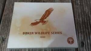 Boker 1990 Wildlife Series Bald Eagle 3 Blade Folding Knife With Box # 1518