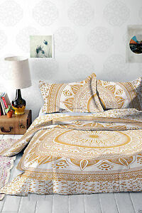 Indian Mandala Quilt Duvet Cover Bedding Twin Size Doona Cover Bed Set