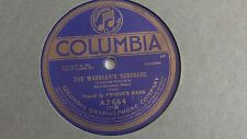 Prince's Band - 78rpm single 10-inch – Columbia #A-2654 The Warbler's Serenade