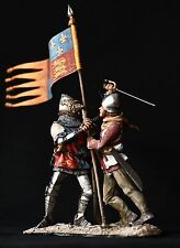 ELITE TIN SOLDIER: The Oriflame at Agincourt  54 mm,metal sculpture.