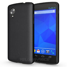 For LG Google Nexus 5 D820 Cover Black TPU Soft Rubber Matte Back Case+ HD Films