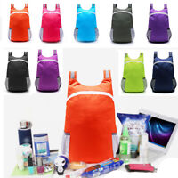 Hiking Sports Portable Folding Backpack Foldable Pouch Travel Bag Storage