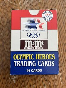 1984 Mars M&M's OLYMPIC HEROES Trading Cards BOX SET CASSIUS CLAY BRUCE JENNER
