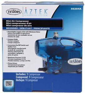Testors Aztek Mini Airbrush Compressor Blue 50204A