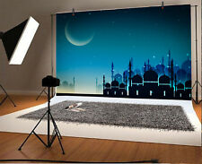 7x5ft Muslin Mosque Nightscape Photography Background Baby Photo Backdrops Islam