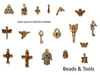 High Quality Pewter Charms 22k Gold Plated Many Designs BEADS & TOOLS