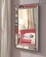 Balenciaga Antique Finish Silver Beaded Wall Mirror