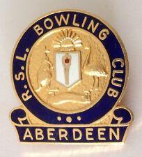 Aberdeen RSL Bowling Club Badge Pin Vintage Lawn Bowls (L32)