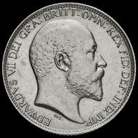 1909 Edward VII Silver Sixpence, Scarce, EF