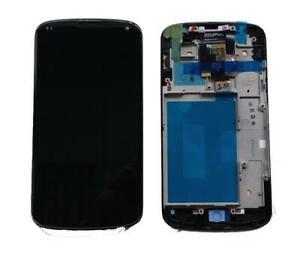 DISPLAY LCD SCHERMO per Lg E960 Nexus 4 NERO touch vetro modulo completo touchsc