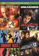 Jet Lis Fearless/Unleashed/Smokin Aces/Assault on Precinct 13 (DVD, 2014, 4-Disc