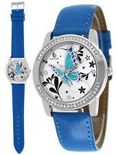 Neu Damenuhr Damen Uhren Swarovski ® Elements Armband Uhr Damenuhren silber blau
