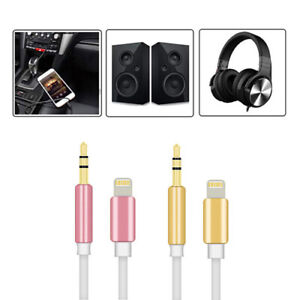 1METRE Audio Cable Adapter Headphone AUX 3.5MM Coiled For USB iPHONE IPAD iPod