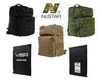"Vism 2974 Assault Backpack With Ballistic Soft Panel-Rectangle Cut 11""x14"""