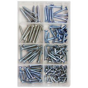 Assortment Screws Kit Sets / Pozidrive Screws Flat Head (pack of 20-100)