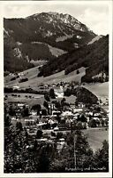Ruhpolding Bayern s/w Postkarte 1953 datiert Panorama Blick auf den Hochfelln