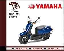 Yamaha C3 XF50 2007 - 2011 Workshop Service Repair Manual