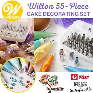 Wilton 55-Piece Decorating Piping Tips Set, Cake & Cupcake Baking, Nozzles