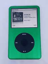 REFURBISHED !Apple iPod classic GREEN ! (80 GB)  THIN 6TH GEN- NEW BATTERY !