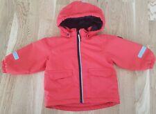 Polarn O. Pyret 9-12 months baby red waterproof jacket Hi-Vis rain coat winter